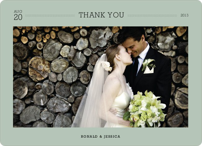 Wedding Photo Thank You Notes - White