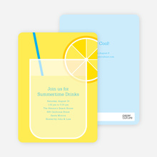 Lemonade Stand Party Invitations - Royal Blue
