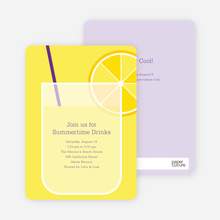 Lemonade Stand Party Invitations - Amethyst