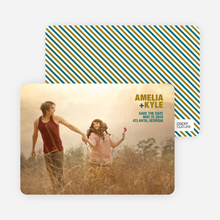 Less is More Save the Date Cards - Khaki