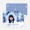 Magical Snow Holiday Photo Cards - Arctic Blue