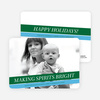 Making Spirits Bright Holiday Photo Cards - Hunter Green