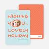 Marker Greeting Holiday Photo Cards - Orange Sherbet