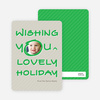 Marker Greeting Holiday Photo Cards - Emerald Green