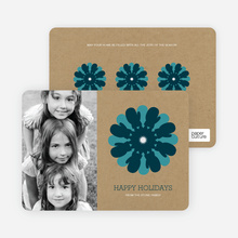 Mitten Snowflake Holiday Photo Card - Navy