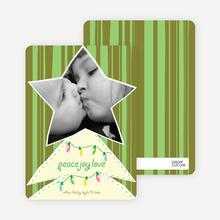 Modern Christmas Tree Photo Card - Olive Green