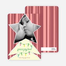 Modern Christmas Tree Photo Card - Sangria