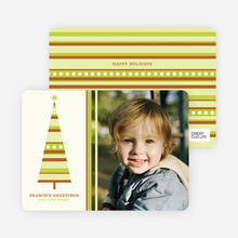 Modern Photo Cards: Christmas Trees - Chartreuse