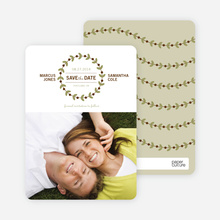 Modern Garland Eco Friendly Save the Date Photo Cards - Vine