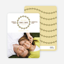 Modern Garland Eco Friendly Save the Date Photo Cards - Wheat Grass