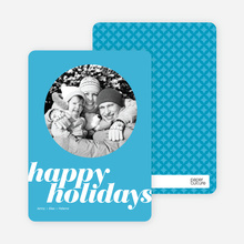 Modern Happy Holidays - Baby Blue