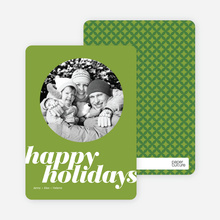 Modern Happy Holidays - Bamboo