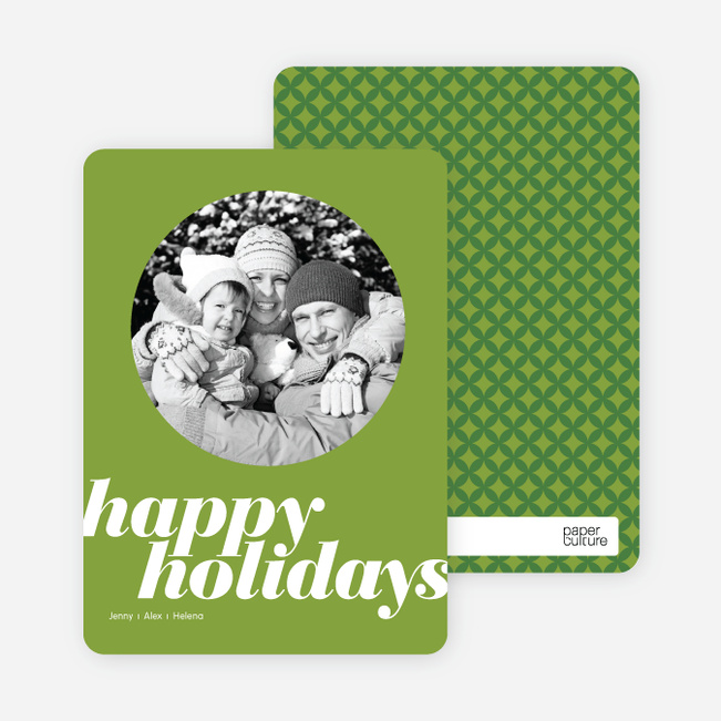 Modern Happy Holidays Photo Card - Bamboo