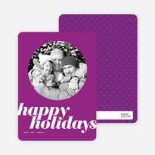 Modern Happy Holidays Photo Card - Violet