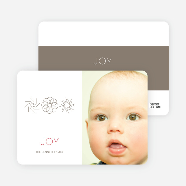 Modern Holiday Photo Cards: Joy - Silver Grey
