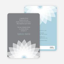 Modern Lily Lotus Bridal Shower Invitations - Green
