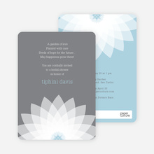 Modern Lily Lotus Bridal Shower Invitations - Green