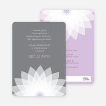 Modern Lily Lotus Bridal Shower Invitations - Purple
