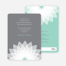 Modern Lily Lotus Bridal Shower Invitations - Blue
