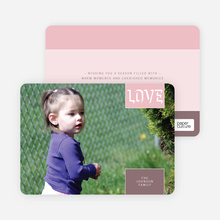 Modern Love Holiday Photo Cards - Tea Rose