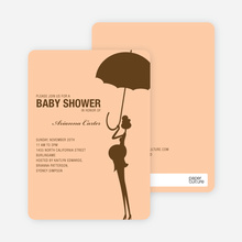 Modern Maternity Shower - Cocoa
