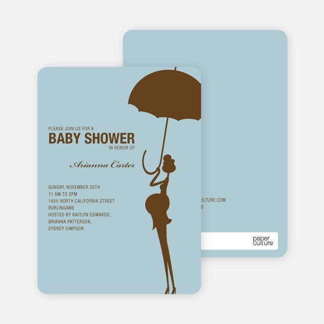 Modern Maternity Baby Shower Invitations - Cocoa