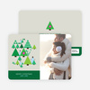 Modern Triangle Christmas Tree Cards - Forest Green