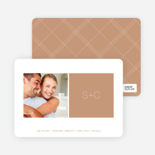 Monogram Save the Date - Latte