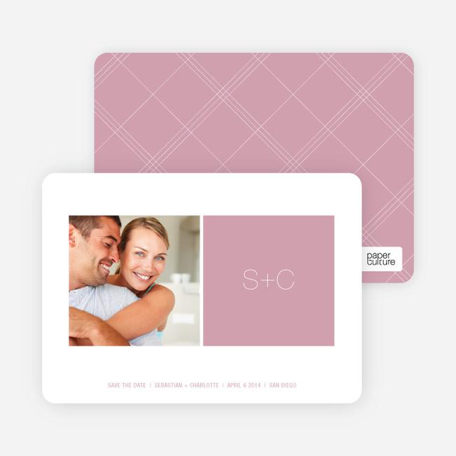 Monogram Save the Date Cards - Tea Rose