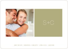 Monogram Save the Date - Celadon