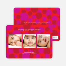 Multi Photo Holiday Cards - Bright Red