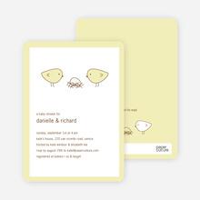 Nesting Birds Baby Shower Invitation - Fluffy Yellow