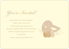 Nesting Mother Baby Shower Invitations - Sand