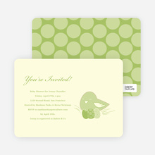 Nesting Mother Baby Shower Invitations - Celery