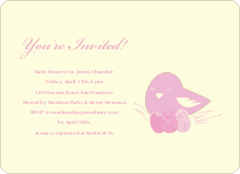 Nesting Mother Invitations - Vintage Rose
