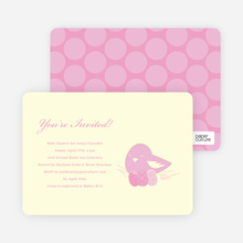 Nesting Mother Baby Shower Invitations - Vintage Rose