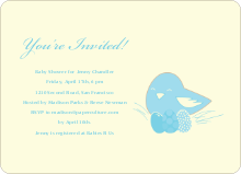 Nesting Mother Invitations - Baby Blue