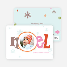 Noel Décor Holiday Photo Cards - Cantaloupe