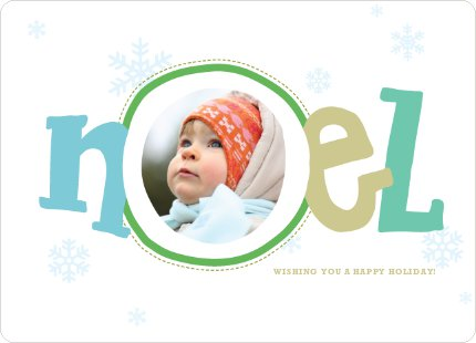 Noel Décor Holiday Photo Cards - Kiwi