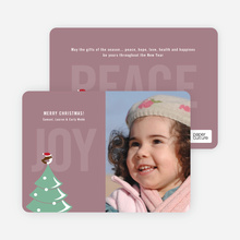 Not just For the Birds Holiday Cards - Mauve