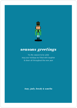 Nutcracker Season's Greetings from Paper Culture - Apple Green