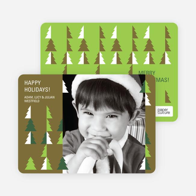 O Christmas Tree Holiday Photo Cards - Taupe