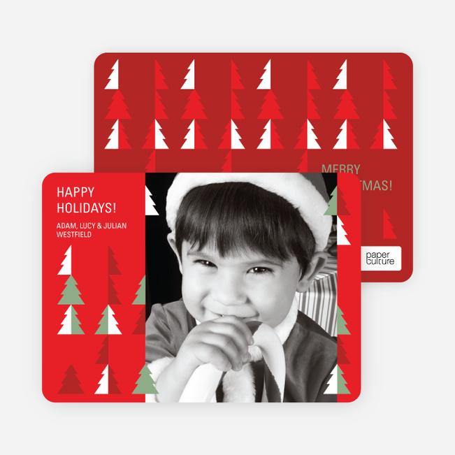 O Christmas Tree Holiday Photo Cards - Cardinal Red