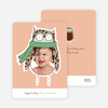 Ogling Owl Holiday Photo Cards - Basil