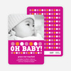 Birth Announcements: Oh Baby! - Magenta