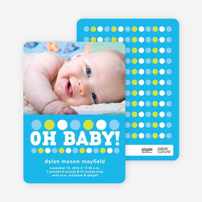 Oh Baby! Birth Announcements - Cornflower