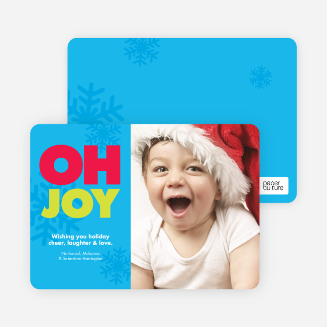 Oh Joy giggle Holiday Photo Card - Bright Aqua