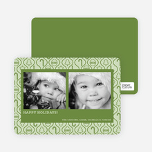 Ornament Border Holiday Photo Cards - Bamboo