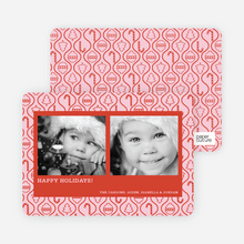 Ornament Border Holiday Photo Cards - Persimmon