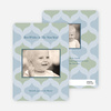 Ornaments: Holiday Photo Card - Powder Blue